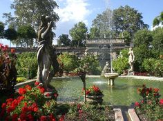 Gardens of Palazzo Pfanner, with view on city wall, Lucca. Palazzo Pfanner Via degli Asili, 33, 55100 Lucca, Italy