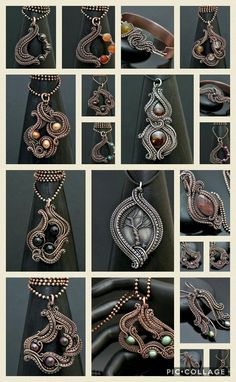 February 2017 wire wrap jewelry makes. www.nicolehannajewelry.com