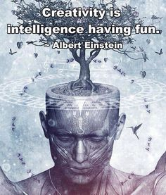 EQ- Best Quote by Albert Einstein: Creativity is intelligence having fun Intelligence Quotes, Kindness Matters, Albert Einstein Quotes, Creative Thinking, Creative Ideas, Creative Inspiration, Creative Things, Creative Writing, Law Of Attraction