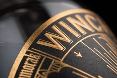 Winchester Distillery's Winchester Dry Gin Labels designed by Sant Harwick