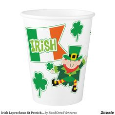 Irish Leprechaun St Patrick's Day Paper Cup
