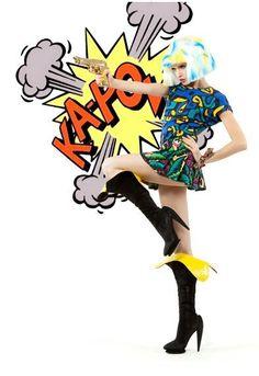 Popular Culture, Pop Fashion, Vibrant Colors, Vivid Colors