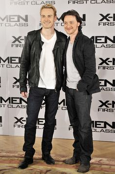 Who said Irsh & Scotts don't get along? Two of my favorite UK boys: Michael Fassbender & James McAvoy