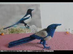 Tutorial Mirlo en macrame (3D) - YouTube