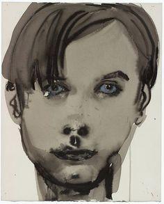 Marlene Dumas | gewassen inkt, krijt op papier | (100x) 62 x 50 cm | Locatie VAM, B2, 02, 00 | Verworven in 1994 | Inventarisnr 2065