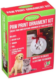 Santa's Lucky Dog Memory Paw Print Ornament Kit dog toy, pat toy, fast shipping   Collectibles, Holiday & Seasonal, Christmas: Current (1991-Now)   eBay!