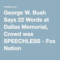 george bush memorial day speech