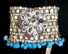 * * * PAESAGGIO URBANO Armband mit Silber/Straß/türkise Schmucksteine * * * Silver Rhinestone, Turquoise Gemstone, Gemstones, Ebay, Bracelets, Landscape, Nature, Urban, Fashion Jewelry