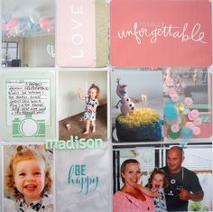 Turning Two...using panoramic photo pages to fit LOTS of photos in!