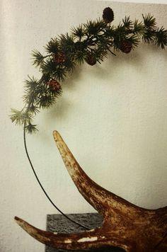 Joulukranssi havukranssi rautalanka kävyt kranssi