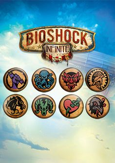 BioShock Infinite Vigor Pin Set via the Irrational Games Store.