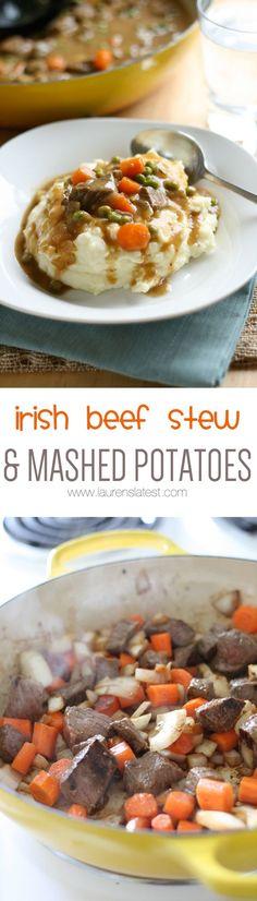 Irish Beef Stew and Mashed Potatoes