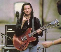 My favourite era of Bono. Adam Clayton, Victor Hugo, Paul Hewson, Larry Mullen Jr, Bono U2, Irish Boys, Looking For People, I Love Music, Entertainment