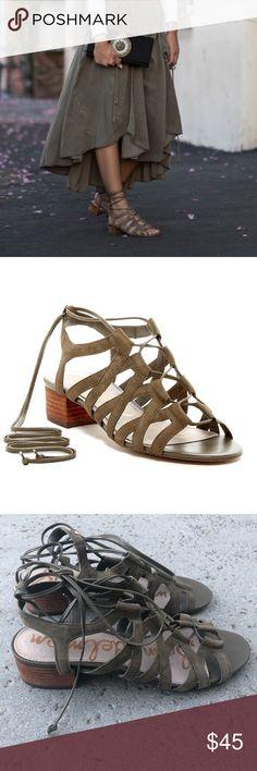 a8c578699f0a Sam Edelman Suede Ardella Sandals Sam Edelman  Ardella  lace-up suede  sandals.