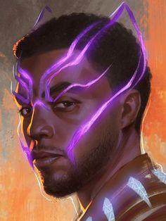 Incredible Black Panther fanart Marvel Art, Marvel Heroes, Marvel Characters, Marvel Movies, Character Drawing, Comic Character, Black Panther Marvel, Black Panther Art, Black Panther Chadwick Boseman