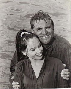 """Leslie Caron and Cary Grant """"Father Goose"""" 1964"""