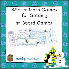 Twenty-five math games covering addition, subtraction, mulltiplication, division,time and rounding to the nearest 10 are included in this pack - all with a winter theme. Each game is common core aligned. Just print and laminate and you are ready to play. Perfect for you maths center