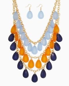 charming charlie   North Shore Tiered Necklace Set   UPC: 410007264563 #charmingcharlie