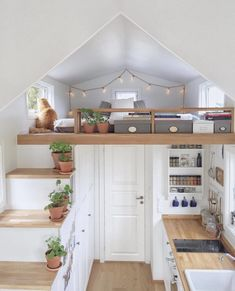 This is Ida and her gorgeous Mikrohus (Tiny House) in Norway. Originally from Sweden, she lives on the edge of a farm with her beautiful cat Teo. Tiny House Loft, Modern Tiny House, Tiny House Living, Tiny House Plans, Small House Design, Living Room, Tiny Loft, Room Design Bedroom, Home Room Design
