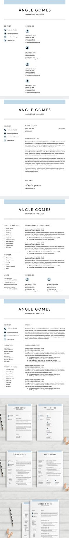 Resume/CV - 5 Pages Portfoilo Pinterest Resume cv, Stationery - resume 5 pages