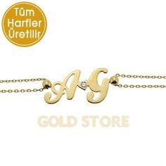 14 Ayar Altın Harf Bileklik GB10784