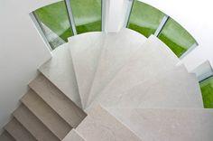 gray limestone stairs from Transylvania
