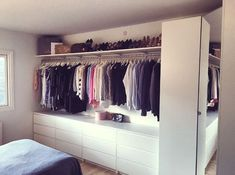 closet layout 325666616807438497 - Our walk-in at home made by my boyfriend – I am one lucky girl ♥ Our walk-in at home made by my boyfriend – I am one lucky girl ♥ Source by ditommasocorali Dressing Room Closet, Closet Bedroom, Bedroom Storage, Girls Bedroom, Bedroom Decor, Bedroom Ideas, House Essentials, Closet Layout, Dressing Room Design