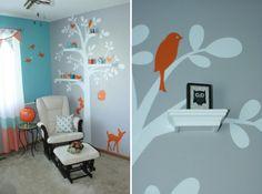 One Sunset at a Time: Baby 2.0's Aqua & Orange Nursery