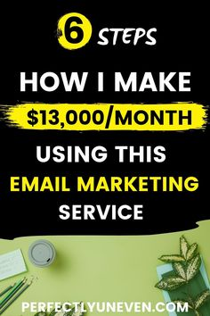 CHEAPEST AND BEST EMAIL MARKETING SERVICE $12K/MONTH - Perfectly Uneven - A guide to the best email marketing service for bloggers or really any type of online business. This is basically a Mailerlite review explaining why this tool is the best choice for email marketing. Hint, it is the cheapest email marketing service, but that is not the only reason. #emailmarketing #emailmarketingforbeginners #emailmarketingtips Email Marketing Software, Email Marketing Campaign, Home Based Business, Business Ideas, Online Business Opportunities, Drop Shipping Business, Best Email, Poses, Online Jobs