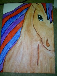 """Galaxer Fader"""" (3/22/15) Horse Art For Sale Contact 678-651-8857"""