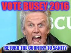 Walken Busey 2016 President | Busey for Prez | VOTE BUSEY 2016 RETURN THE COUNTRY TO SANITY | image ...