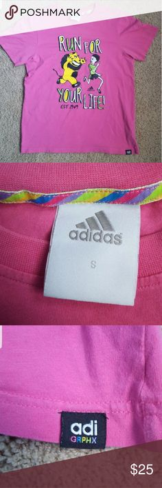 Adidas graphic t-shirt Size Small in men's  Pink Super soft tee Like new never worn no tags adidas Shirts Tees - Short Sleeve