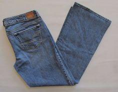 "American Eagle Favorite Boyfriend Jeans 12 Medium distressed Stretch Denim 31"" #AmericanEagleOutfitters #BoyfriendStraightLeg"