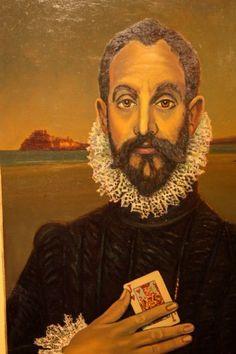 Interpretación de Caballero de la mano en el pecho-El Greco Mona Lisa, Artwork, Knight, Work Of Art, Auguste Rodin Artwork, Artworks, Illustrators