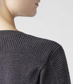 Donna Tide Jumper (Charcoal)   ALLSAINTS.com Jumper, Men Sweater, Fabric Manipulation, Knit Patterns, Knitwear, Knit Crochet, Knitting, Lady, Uni
