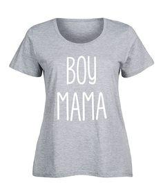 Athletic Heather 'Boy Mama' Scoop Neck Tee - Plus