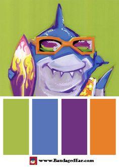Children's Room Color Palettes http://blog.bandagedear.com/2014/12/childrens-room-color-palettes/