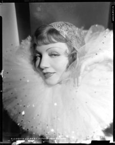 Black-and-white 8 x 10 in. camera negatives on nitrate film of Claudette Colbert by Eugene Robert Richee; with EASTMAN-NITRATE-KODAK etched on the border, CLAUDETTE COLBERT in PARAMOUNT PICTURES