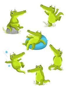 Continuity croc #kidlitart #childrensillustration #croc #continuity #drawing #digitalart #green
