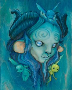 """Pan's Labyrinth - Camilla d'Errico - ''La Capra'' ---- Gallery 1988 presents: """"Guillermo Del Toro: In Service Of Monsters"""" (2015-09)"""