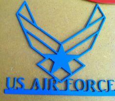 Metal US Air Force sign