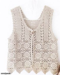 Beige vest ♥LCT♥ with diagrams
