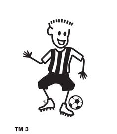 Funky Family Stickers football boy