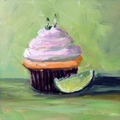 """Cupcake"" - Original Fine Art for Sale - © Kristen Dukat"