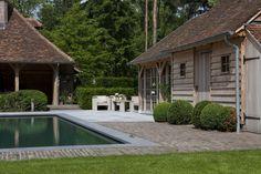 Stone around pool