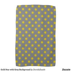 Gold Star with Grey Background Hand Towel This design is available on many products! Click the 'available on' tab near the product description to see them all! Thanks for looking!  @zazzle #art #star #pattern #shop #home #decor #kitchen #dining #apartment #decorate #accessory #accessories #fashion #style #women #men #shopping #buy #sale #gift #idea #fun #sweet #cool #neat #modern #chic #black #blue #orange #grey #purple #navy