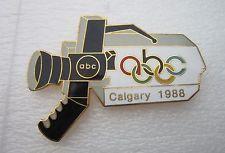 1988 CALGARY  Olympics ABC   USA MEDIA PIN Pin Badge