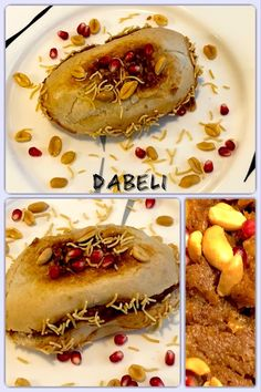 Dabeli or kutchi dabeli is a popular spicy snack of India, originating in the Kutch or Kachchh region of Gujarat. Homemade Food, Peanuts, Street Food, Indian Food Recipes, Badge, Spicy, Good Food, Potatoes, Vegetarian