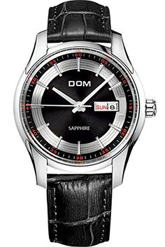 DOM Mens Best Cool Luxury Unique Black Leather Quartz Watches >>> Continue to the product at the image link. (Note:Amazon affiliate link)