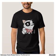 Extreme Cute Pirate Cat T-shirt
